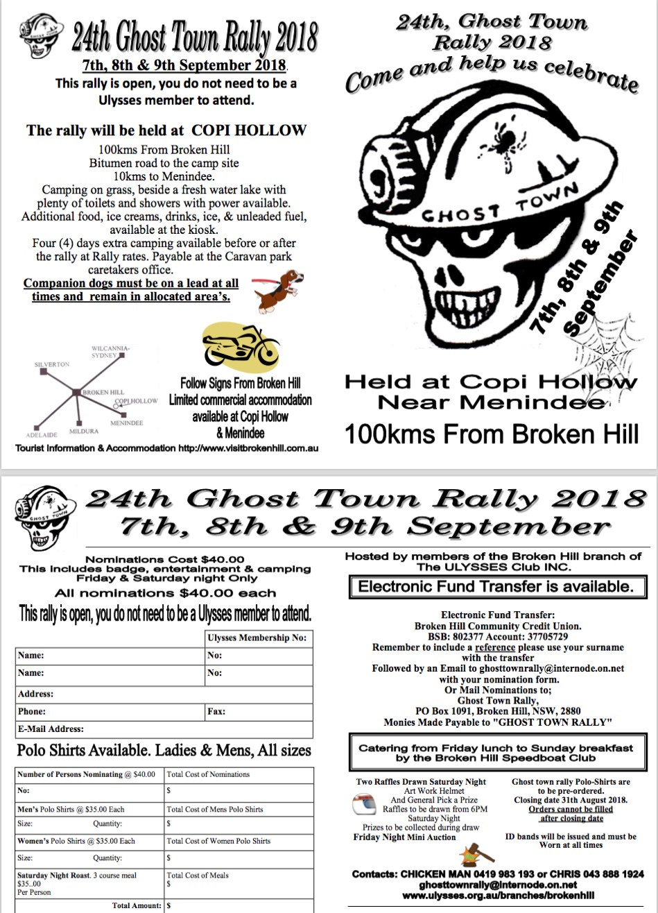 Ghost Town Rally Flyer